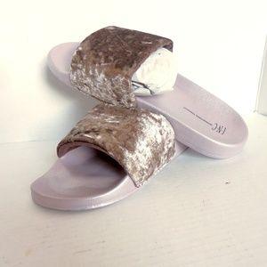 INC International Concepts Shoes - International Concepts Velour Slide Slippers XL